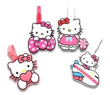 Finex Set of 4 Hello Kitty Travel Carry On Bag Luggage ID Tag for Bags Suitcases