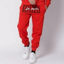 NEW YOUNG & RECKLESS LA VINTAGE RED SWEATPANTS SZ LARGE