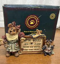 """""""Tessa, Ben & Sissie A Sign of Times� Boyds Bears Bearstone 1999 Figurine In Box"""