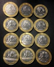 Vintage France Coin Lot - 12 High Quality 10 Franc Bi-Metal Coins -Free Shipping