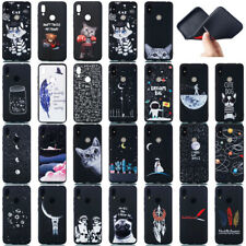 For Xiaomi Redmi Note 7 8 8T Black Painted Silicone Rubber Soft TPU Case Cover