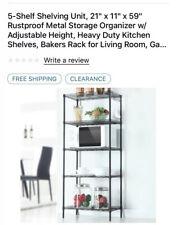 Five Shelf Shelving Unit