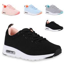 Damen Sportschuhe Gym Sneaker Leder-Optik Freizeit Laufschuhe 826595 Trendy Neu