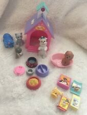 Barbie Mattel Fisher Price Dogs, Cats, Bed, Bone, Doghouse, Bowls, Food Etc Lot
