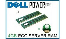 4GB (2x2GB) ECC Memory Ram Upgrade for Dell Poweredge T100, T105 & R200 Servers