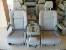2 BUCKET SEATS & MIDDLE SEAT GRAY LEATHER truck hotrod rv bus classic car