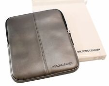 "NEW Wilsons Leather iPad Kindle 10"" Tablet Zipper Case Cover Sleeve Pewter"