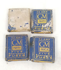 Lot of 19 Vintage Old Original GM Genuine Parts Emergency Spare Fuse Fuses
