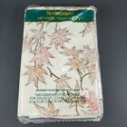 Vintage Springmaid No-Iron Tranquility 2 Standard Pillowcases 'Red Maple' NOS
