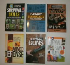 HUGE lot of 6 SURVIVAL books * Skills Plans Prepping Bug-Out Guns Tactics