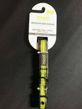 MOD REFLECTIVE DOG COLLAR 11.8 -15.75 INCHES  SMALL NEW