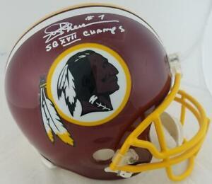 "Joe Theismann ""SB XVII Champs"" Signed F/S Replica Washington Helmet JSA"