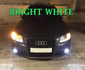 AUDI A4 A6 C6 BRIGHT XENON WHITE FOGLIGHT SMD LED Fog Light Bulbs - ERROR FREE