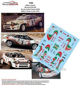 DECALS 1//43 REF 0323 PEUGEOT 206 WRC DIDER AURIOL RALLYE MONTE CARLO 2001 RALLY