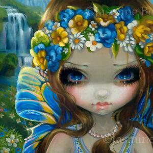 Fairy Face 229 Jasmine Becket-Griffith swedish faery midsummer SIGNED 6x6 PRINT