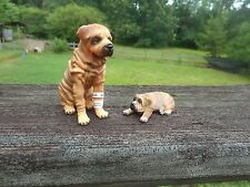 Shar Pei Adult and Puppy by CollectA;/Charpei/Sharpei /toy/ dog