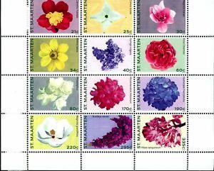 St. Martin SC#006 (2011) Flowers Block of 12 MNH
