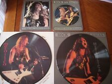 """metallica 4 x interview picture disc 12"""" and shaped 7"""" vinyl limited edition"""