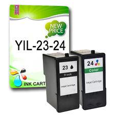2 ink cartridges Replace for Lexmark 23XL 24XL X4550 Z1400 Z1410 Z1420