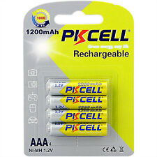 4PCS 1200mAh 1.2V NI-MH AAA Rechargeable Battery PKCELL CA Seller Fast Shipping