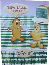 Fred & Ginger Tennis Joke BLANK card by Great British card company