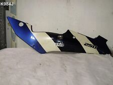 KAWASAKI ZXR 250A ALL YEAR LH FRAME COVER BLUE WHITE LIGHT SCRATCHED POLISH AND