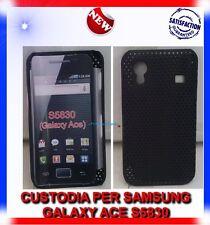 Custodia + Pellicola MESH NERA per Samsung galaxy Ace S5830