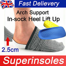 In-sock Arch Support Height Increase Heel Lift Pads Taller Insoles Inner sole