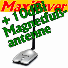 ALFA AWUS036H High Power Stick Adapter USB Wlan WiFi + 10dBi MAGNETFUß-ANTENNE
