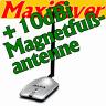 ALFA AWUS036H High Power Stick Adapter USB Wlan WiFi + 10dBi MAGNETFUß-ANTENNE
