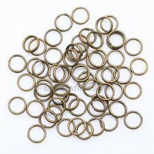 Gold & SILVER PLATED Metal Jump Double Split JUMP RINGS! 4,5,6,7,8,10,12MM