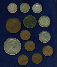 AUSTRALIA  1935 3 PENCE SILVER COIN, 1938 HALF-PENNY, 1943 & 1949 THREE PENCE,..