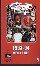 1993 1994 WASHINGTON BULLETS Medis Guide Ex- Mint +