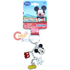Disney Mickey Mouse Key Chain 4 Charm Dangle Metal Key Holder