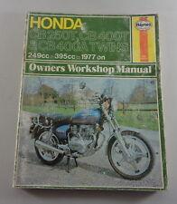 Manual de Reparación/Manual Reparacion Honda CB 250T / 400T/CB400A Gemelos 1977