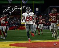 "Leonard Fournette Buccaneers Super Bowl LV Champs Signed 16"" x 20"" Action Photo"