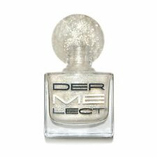 Dermelect Nail Polish in SLEIGH ME Shimmer Gold Glitter White Ivory Cream - New