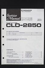 PIONEER CLD-2850 Original CD CDV Lecteur LD manuel de Service/Circuit Diagram