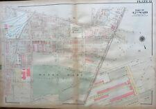 1923 G.W. BROMLEY PHILADELPHIA PA, OLNEY PUBLIC SCHOOL, COPY ATLAS PLAT MAP