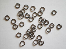 200  Gunmetal Jump Rings - 4mm