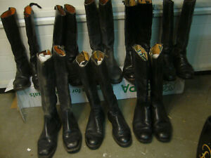 Polizeistiefel, Uniformstiefel, Offiziersstiefel, Reitstiefel, Konvolut 8 Paar