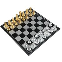 """Magnetic Chess Board Game Set Hand Crafted Folding Chessboard Travel Game 10"""""""