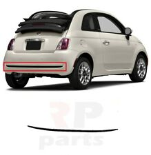 FOR FIAT 500 (312) 2007 - 2015 REAR BUMPER PLASTIC BLACK MOLDING TRIM 735455224