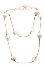 Sublime bolas cubierto de encaje Blanco/Plata Oro Cadena Collar & Caramelo de especificaciones (Ns17)