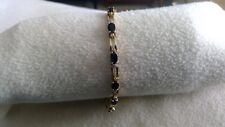14k Diamond and Sapphire Gold Bracelet