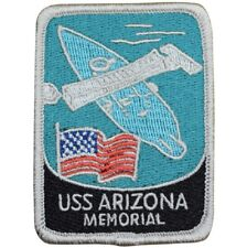 USS Arizona Memorial Patch - US Navy Battleship, Pearl Harbor, Hawaii (Iron on)