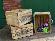 Alte Obstkisten/Weinkisten/Holzkisten im 4er Paket mit Aufdruck