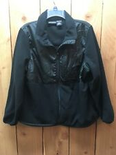 Snozu Platinum Collection Womens 1X Jacket  Black Fleece Lined Zip Pockets