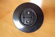 alte runde Steckdose rund Bakelit schwarz Kunststoff Unterputz retro Loft alt