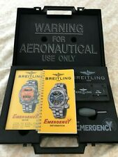 Vintage Breitling Emergency OEM Watch Box Case, Complete Set with Papers, NEW